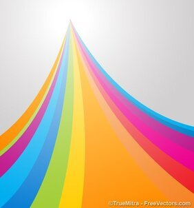 Abstract Rainbow Backdrop