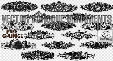 Vector baroque ornaments