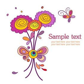 Lovely colorful flowers theme