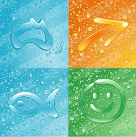 4 composed of fine droplets pattern