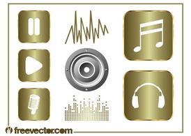 Music And Sound Graphics Set