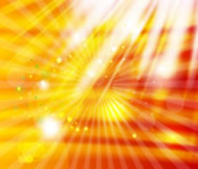 Starburst Golden Background with White Lights