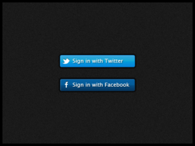 Facebook & Twitter Sign In Buttons