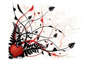 Heart-shaped vector material and plant