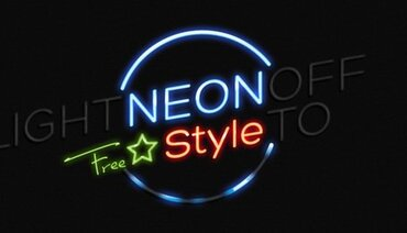PSD Neon Text Effekt Photoshop