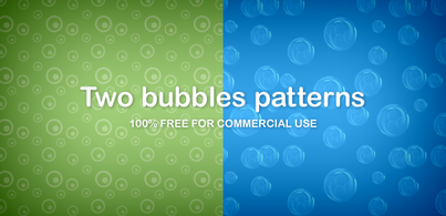 Two bubbles patterns (Free PNG)