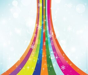 Colorful Snow Vector Background Free