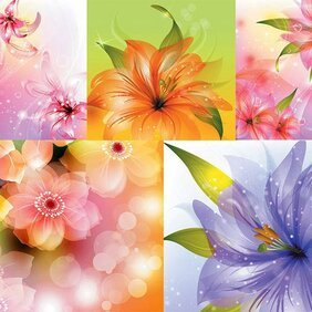 Vector background of beautiful flowers