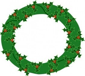 Free Holly Wreath Clipart In Ai Svg Eps Or Psd