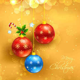 Weihnachten Yellow Background
