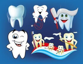 Vector Illustration of cute love dental material