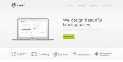 Light Web Design Free PSD Template
