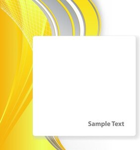 Bright Yellow Line Text Box Vector 3