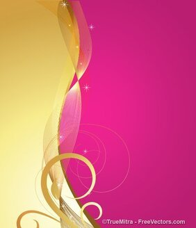 Abstract Floral Banner