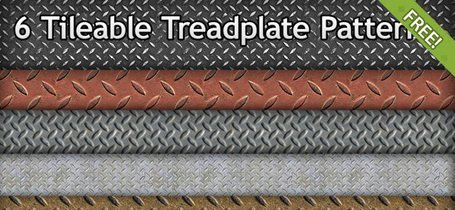 6 Free Tileable Treadplate Patterns
