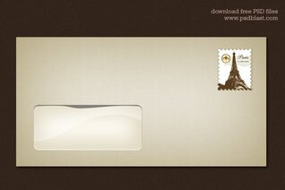 Blank Envelope Template (PSD)