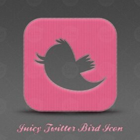 Juicy Twitter Bird Icon