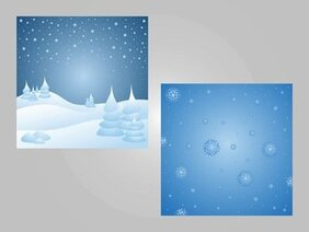 2 Snowy Seasonal Backgrounds