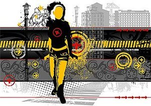 City Vector material elements and the trend of people
