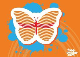 Butterfly Sticker