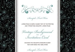 Vector vintage invitation card