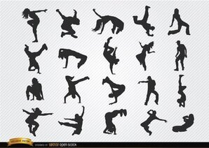 Break dance silhouetten