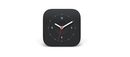 iOS Analogue Clock Mobile Icon
