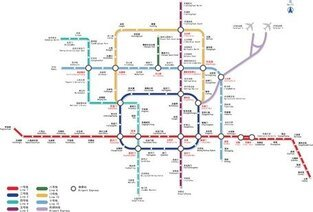 Beijing Subway Line Diagram Of Vector 2009 Edition