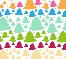 Cute Style Tree Christmas Background