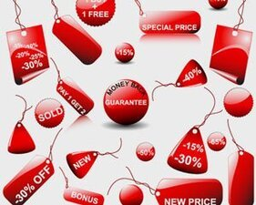 Stock Illustrations Red Stickers-sale