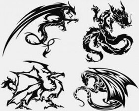Stock Illustrations - Dragon-Tattoo