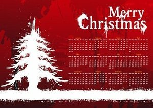 2012 New Year Christmas Card Calendar