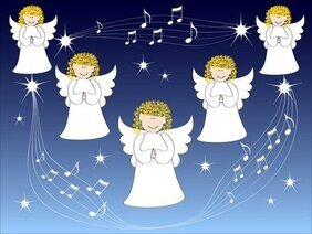 Angel Christmas Background