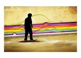 Skater Background Template