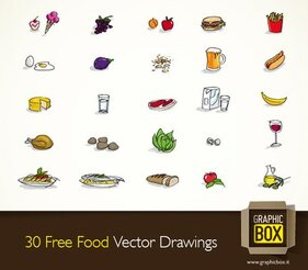 Free Food Vector Drawings