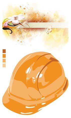 Vector material safety helmets flowers outlets