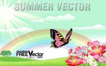 Free Summer Vector Illustrations