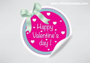 Valentine's Day Sticker Vector Free