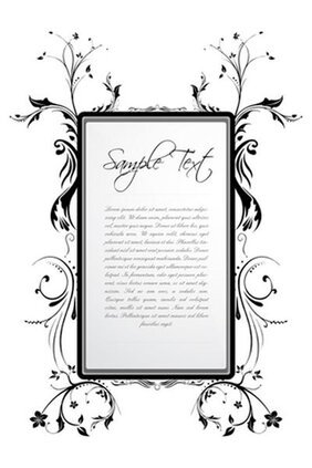 Free vector about vector floral frame