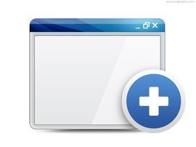 Open in new window and close window symbols (PSD)