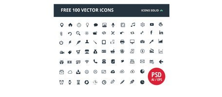 """100, u"""""""" """": uIcon solide"""" glyphe Web Icons Pack"""
