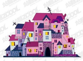 Vector illustrations house material