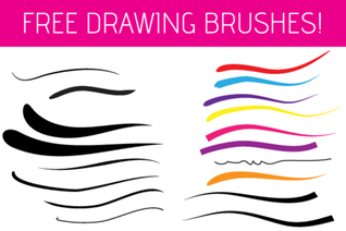 Free Illustrator Drawing Brushes
