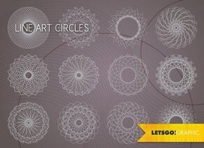 Free Vector Line Art Circle Design Elements