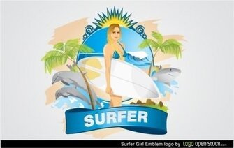 Emblema di Surfer Girl
