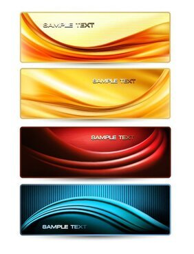 Gorgeous dynamic flow line banner 01
