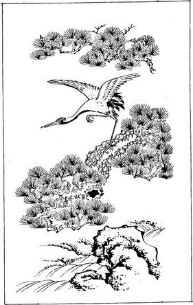 Vector Vector classical Chinese painting material