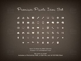 Premium Pixels Icon Set