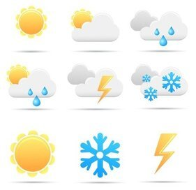 Free Vector simples Weather