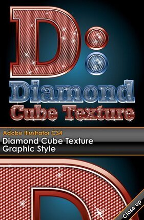 WordArt embedded Vector diamond